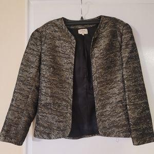 Aritzia Wilfred Pirouette Black Copper Open Blazer